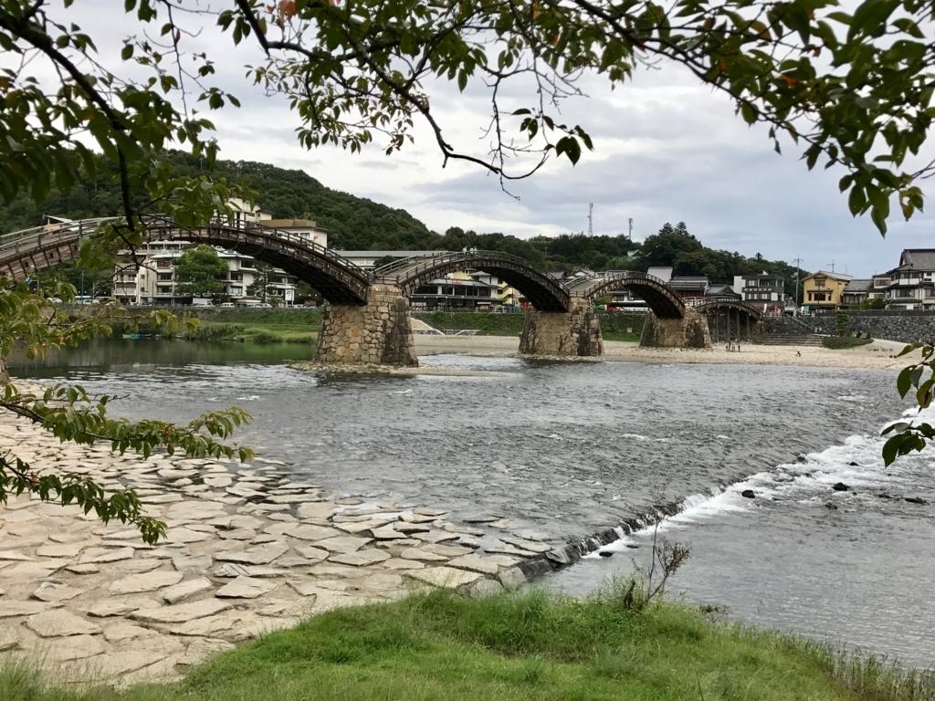 山口県 岩国「錦帯橋」山側より撮影