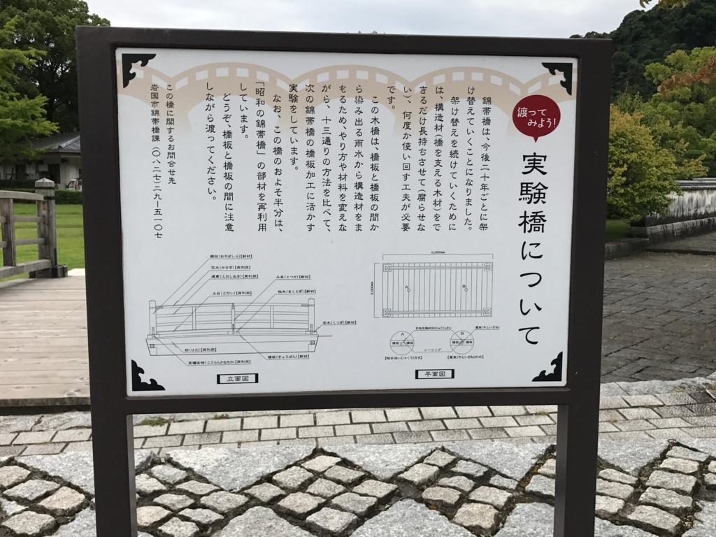 山口県 岩国「吉香公園」実験橋 説明