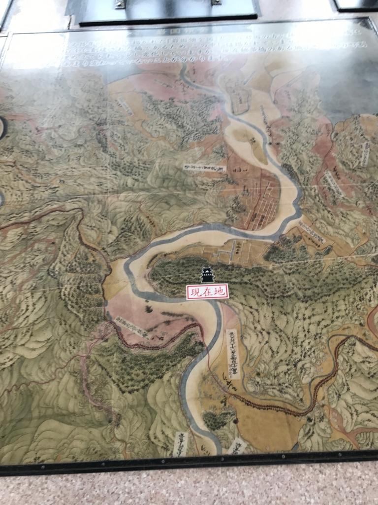 山口県 岩国城 天守閣 4階 床 古地図