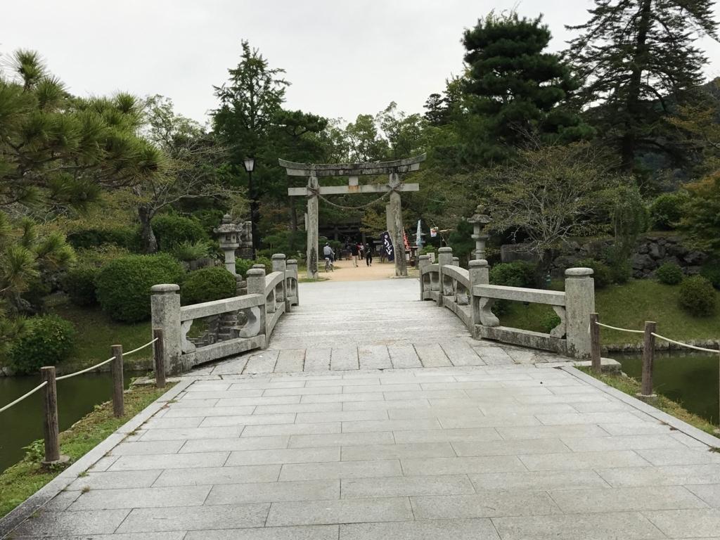 山口県 岩国 「吉香公園」吉香神社 鳥居