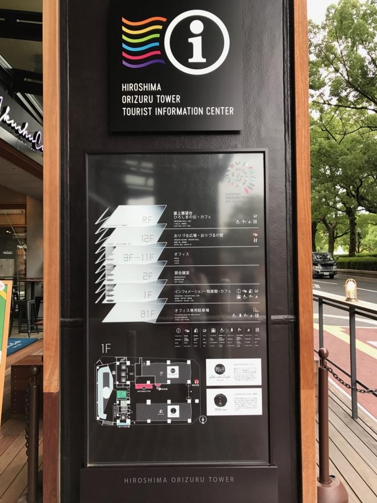 広島県 「おりづるタワー」フロアー案内