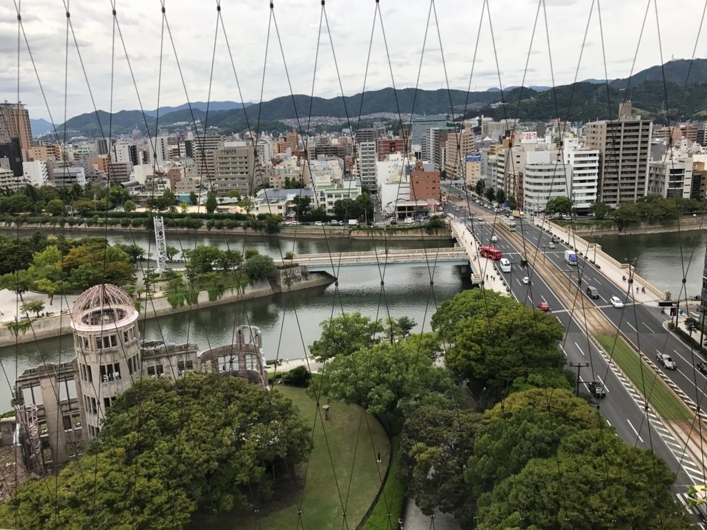 広島県 「おりづるタワー」屋上 「ひろしまの丘」から 相生通り
