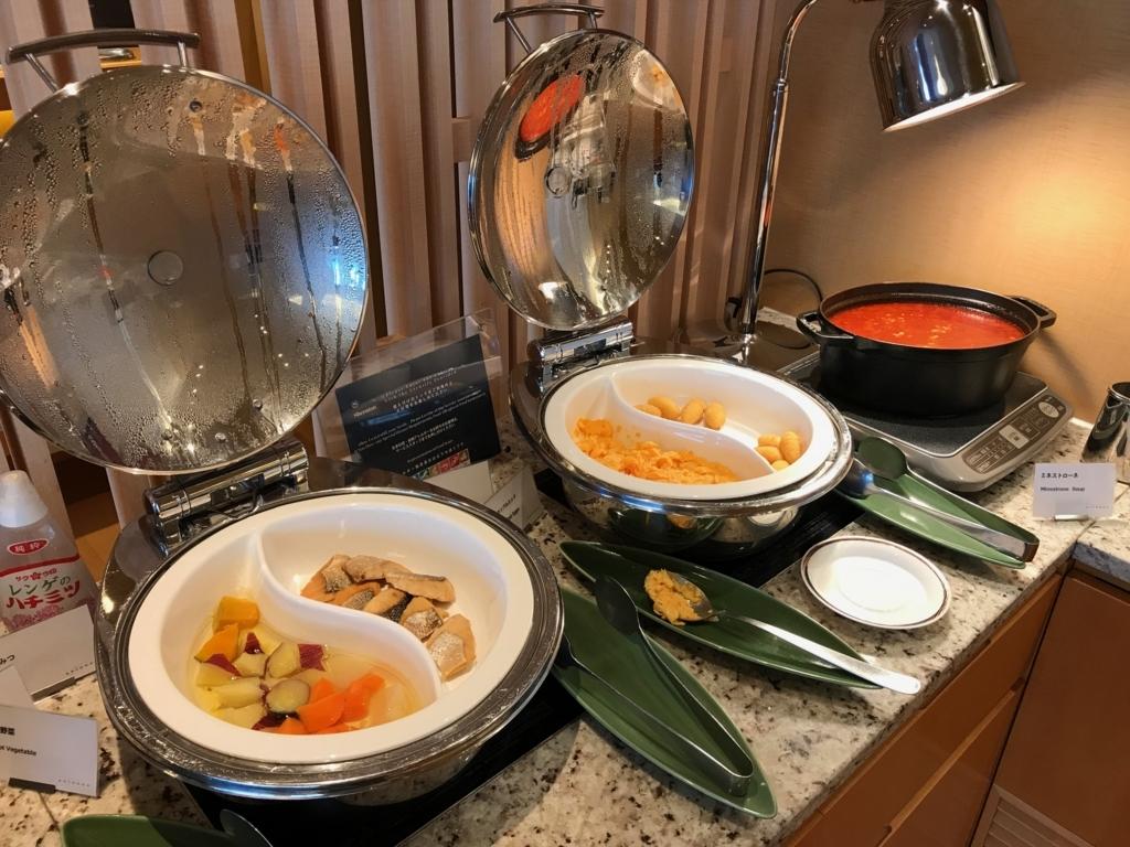 「シェラトングランドホテル広島」クラブラウンジ 軽朝食 ホットミール