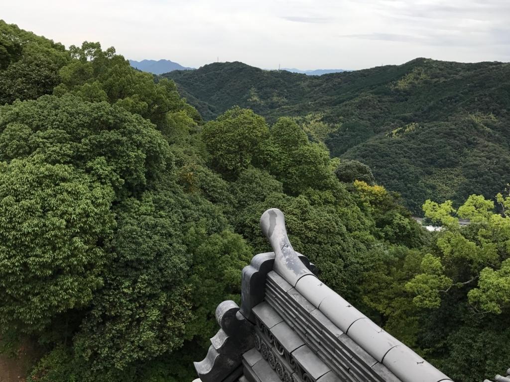 山口県 岩国城 天守閣 4階 眺望 山側