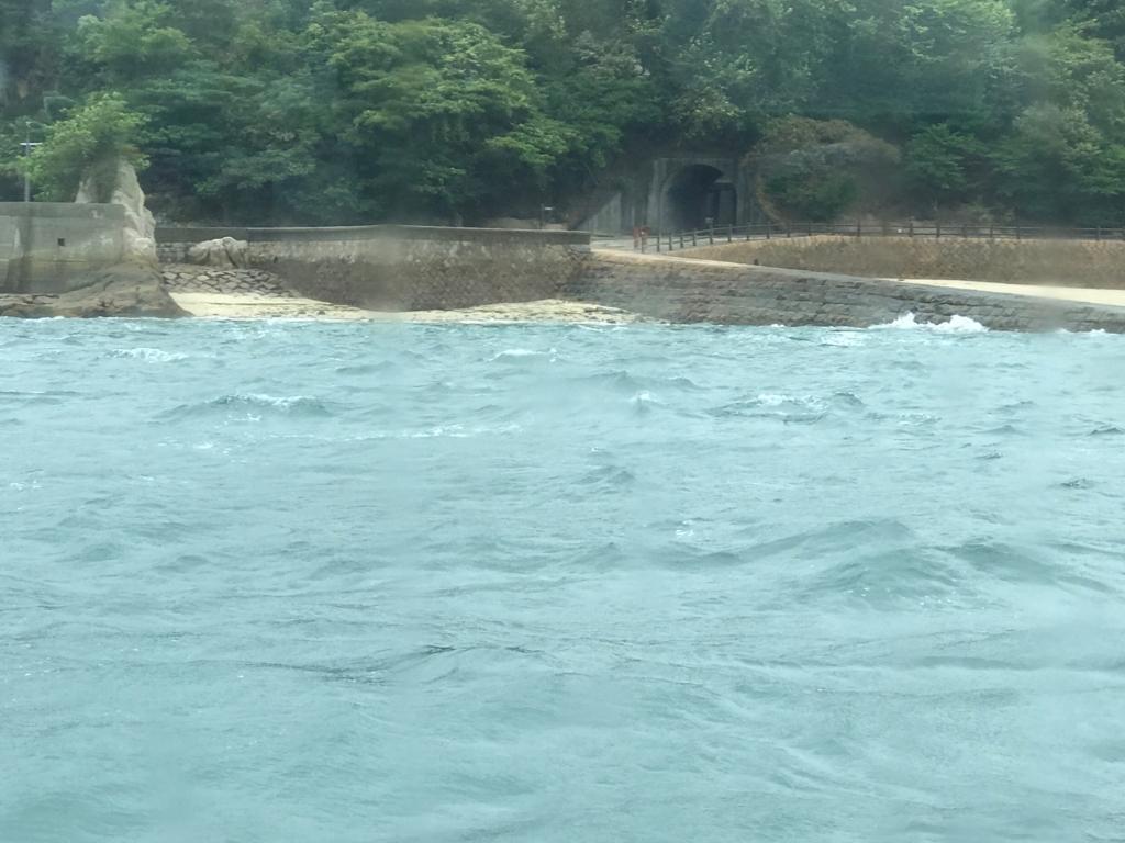 広島県 忠海港 うさぎ島(大久野島) 台風18号接近 前日の第2桟橋