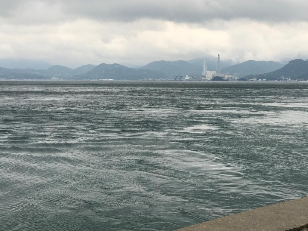広島県 うさぎ島(大久野島)台風18号接近 前日 変なウネリの海