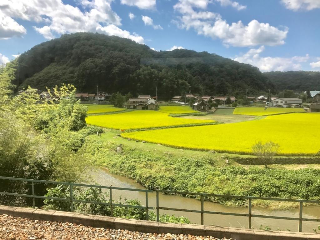 広島県 山陽線 白市駅まで のどかな風景