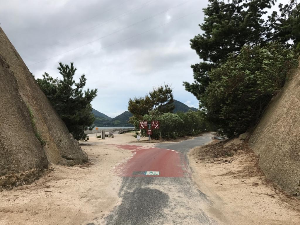 広島県 うさぎ島(大久野島)台風18号午後接近 キャンプ場前