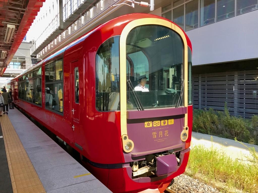 えちごトキめき鉄道 上越妙高駅 「雪月花」 上越妙高駅 停車中