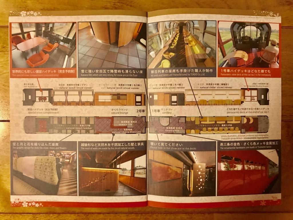 えちごトキめき鉄道 「雪月花」パンフレット 車両紹介ページ