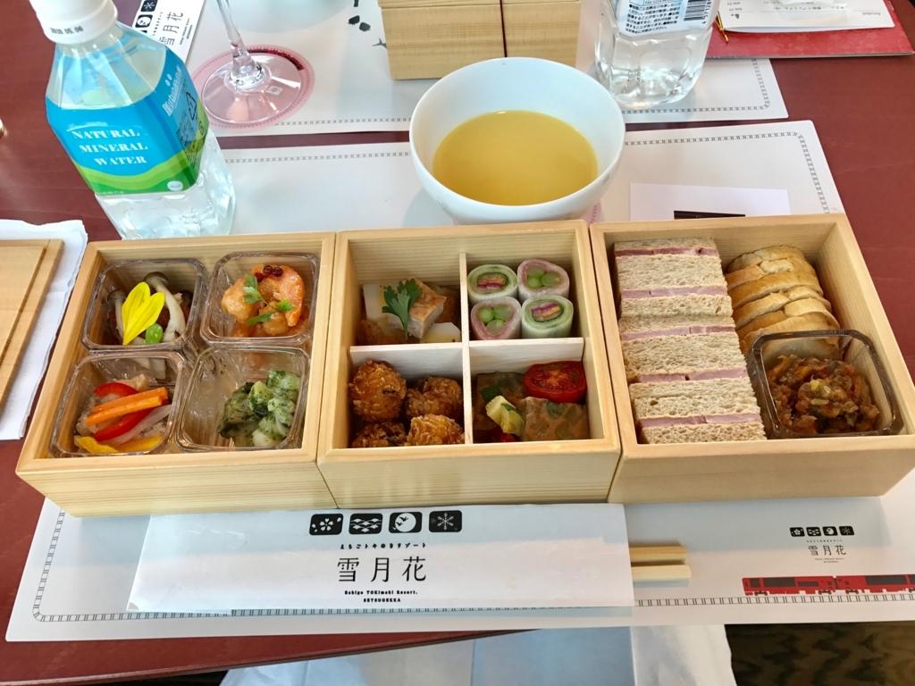 えちごトキめき鉄道会社 展望観光列車「雪月花」 三段重の内容 width=
