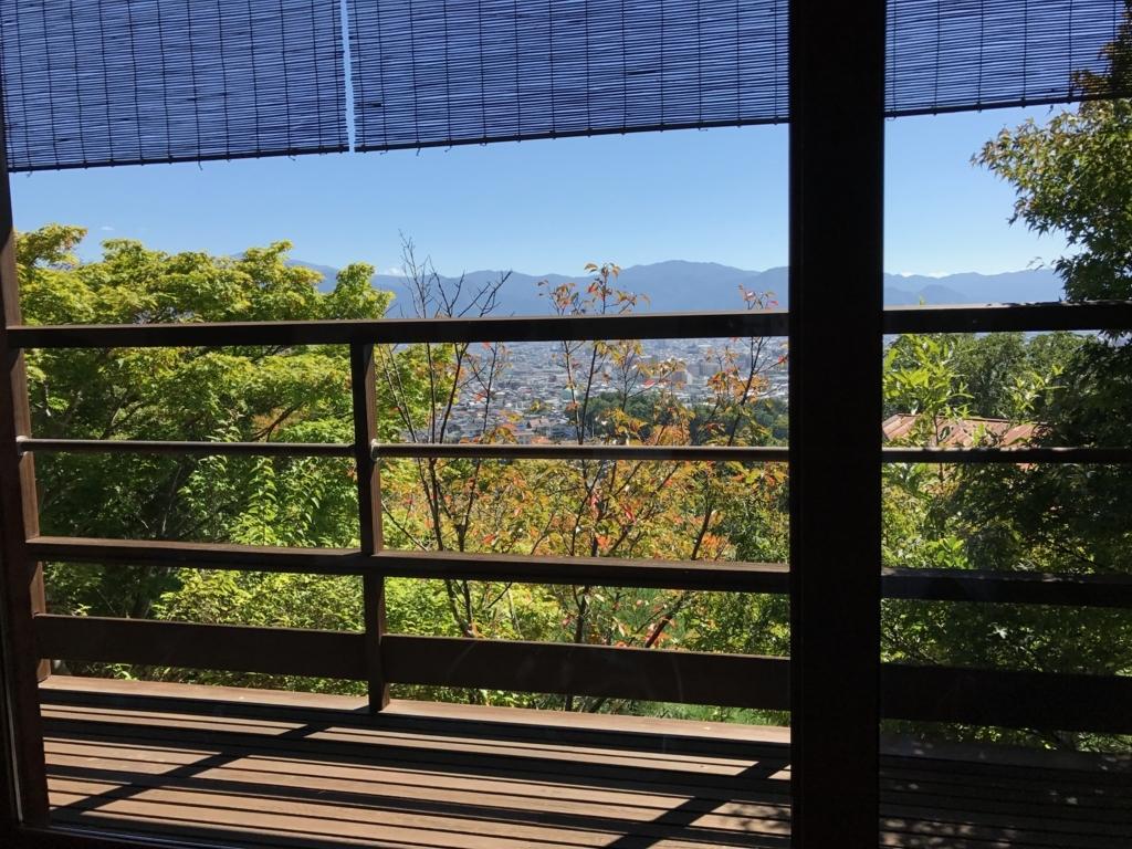 長野市料亭「雲上閣美山亭」広間からの眺望