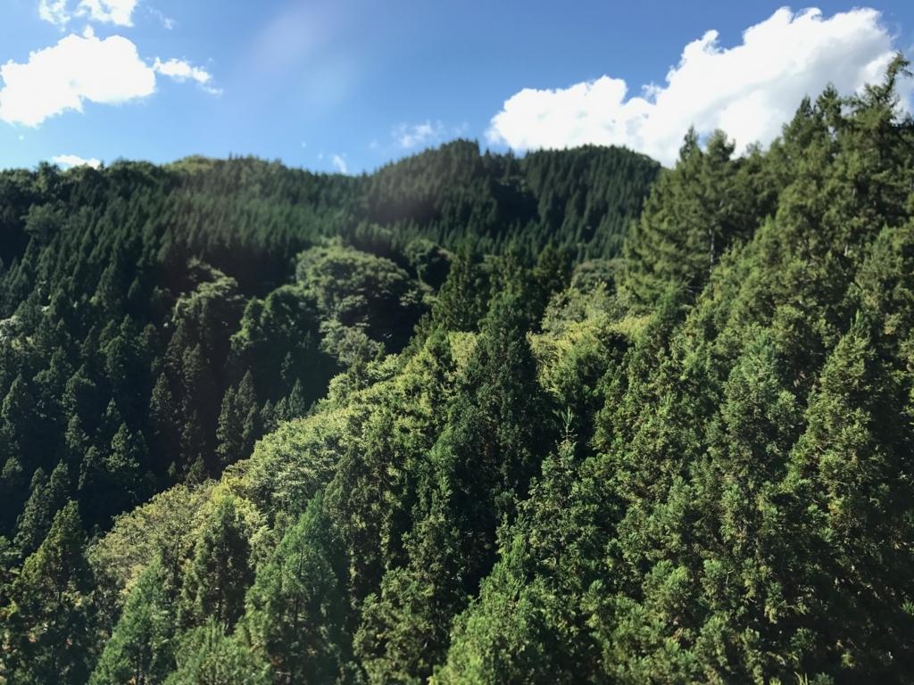 上信越自動車道沿 9月末の山々
