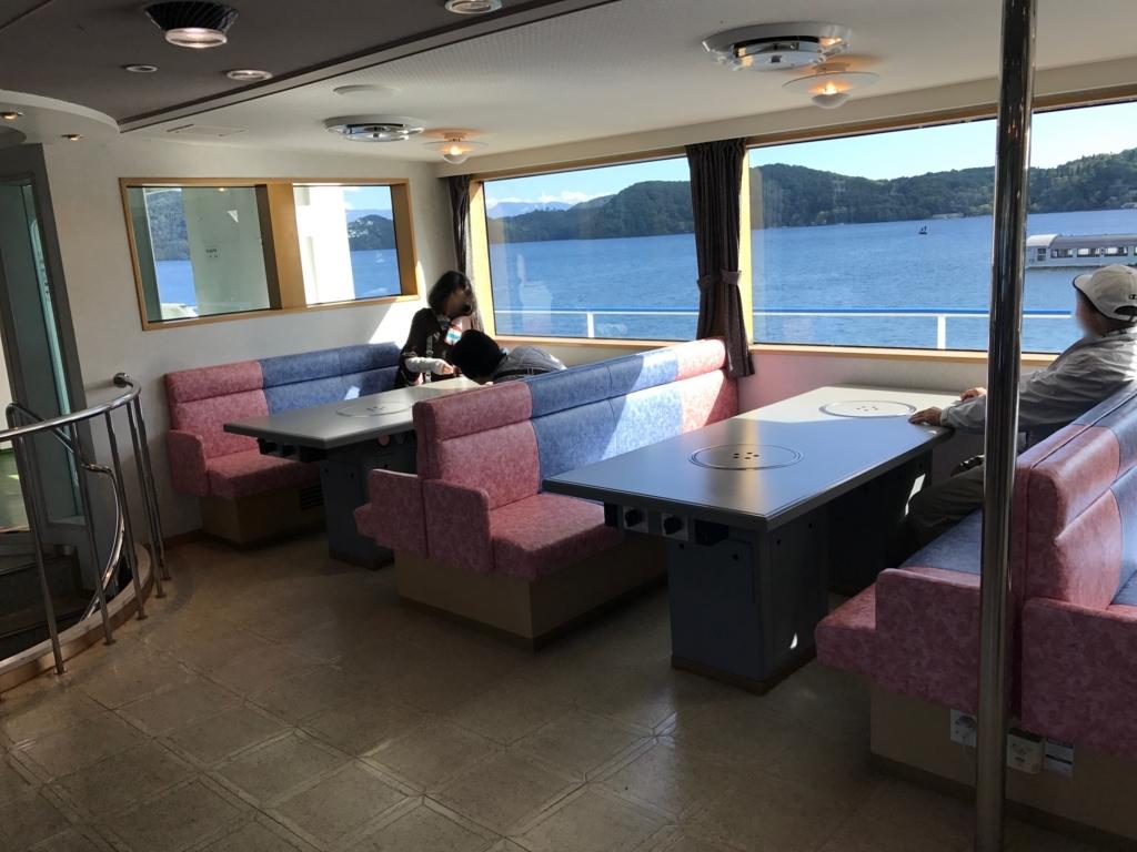 2017年9月 野尻湖 遊覧船「雅」2階1等席