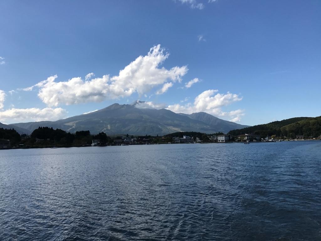 2017年9月 野尻湖 遊覧船「雅」から 妙高山