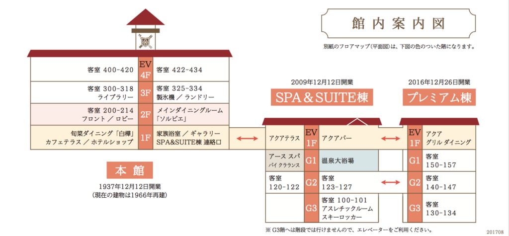 妙高高原 赤倉温泉 「赤倉観光ホテル」館内案内図