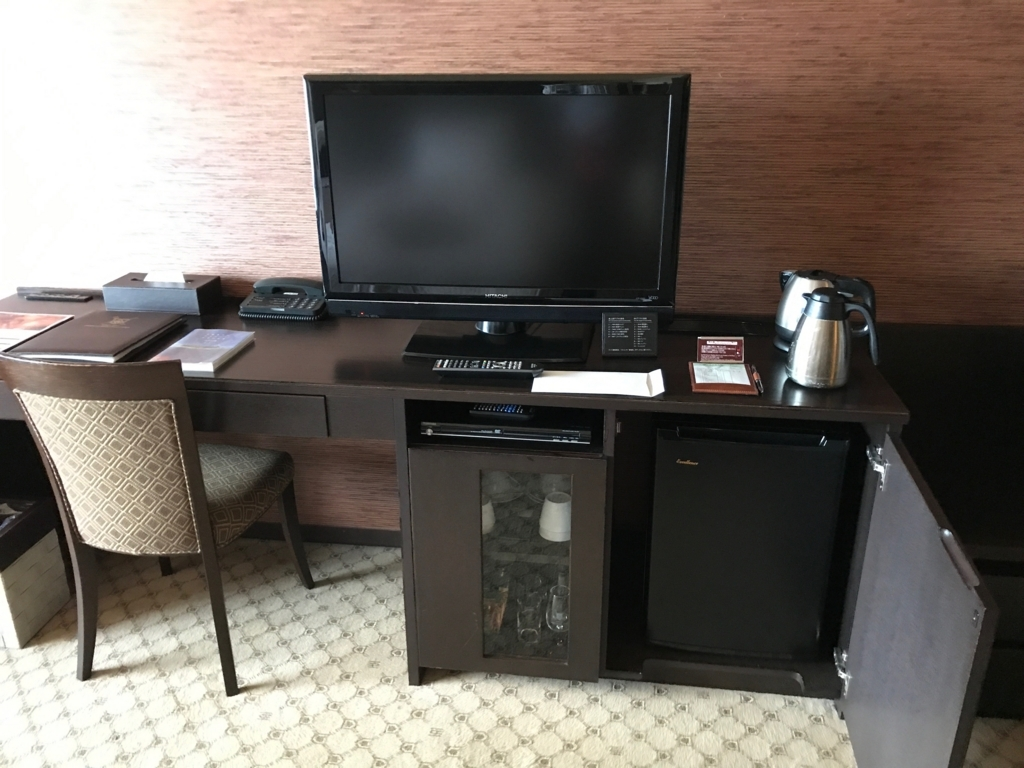 妙高高原 赤倉温泉 「赤倉観光ホテル」本館洋室 備品類