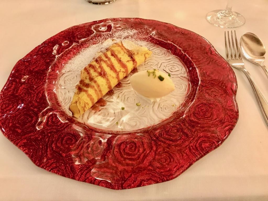 f妙高高原 赤倉温泉 「赤倉観光ホテル」「ソルビエ」 夕食 本日のデザート