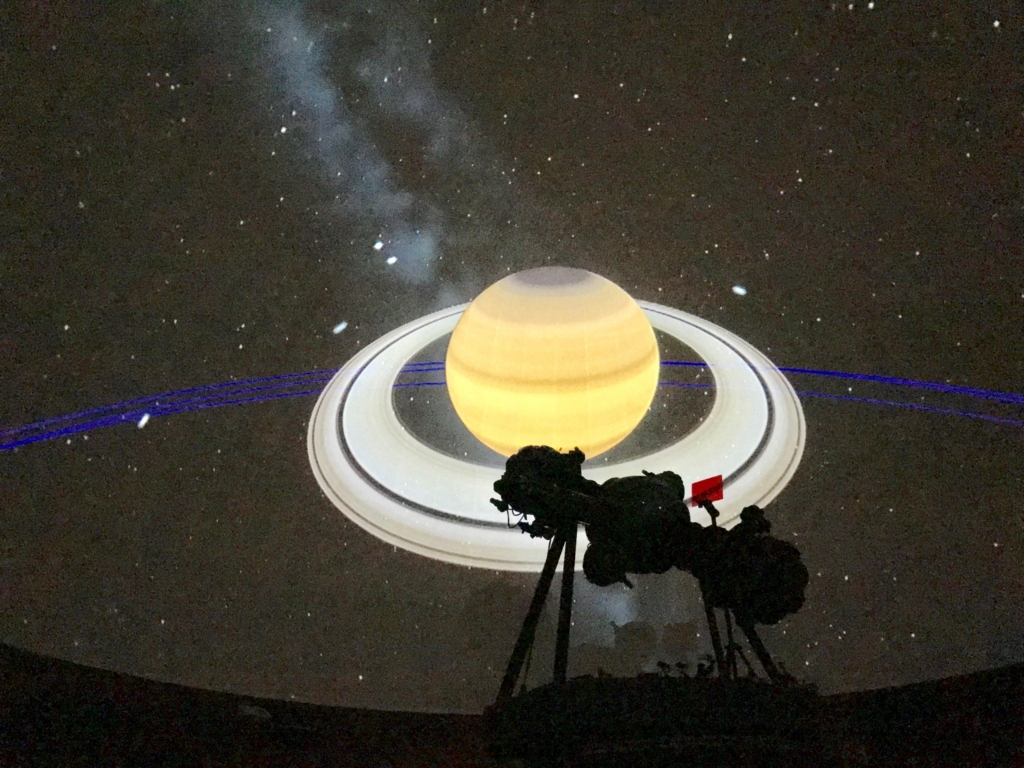 葛飾区 證願寺 「プラネターリウム銀河座」 太陽系 土星