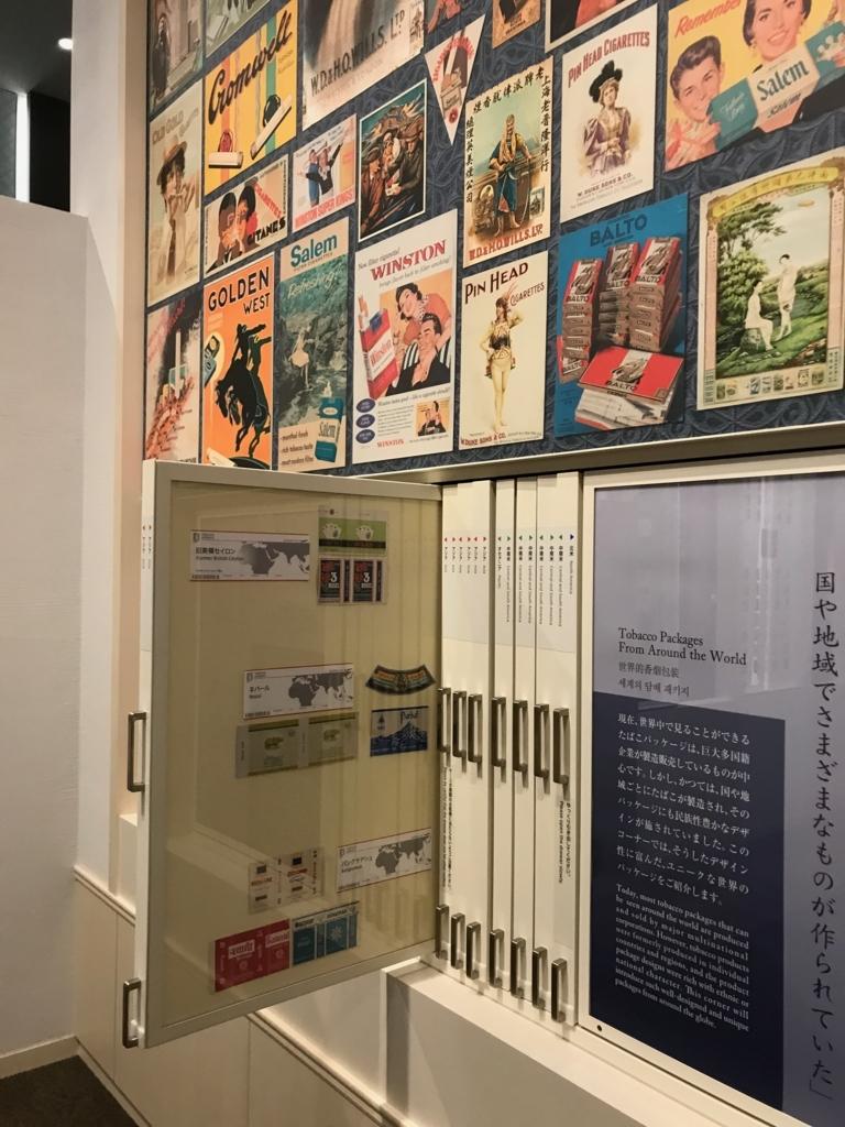 墨田区「たばこと塩の博物館」 3階タバコフロア いろいろなポスター