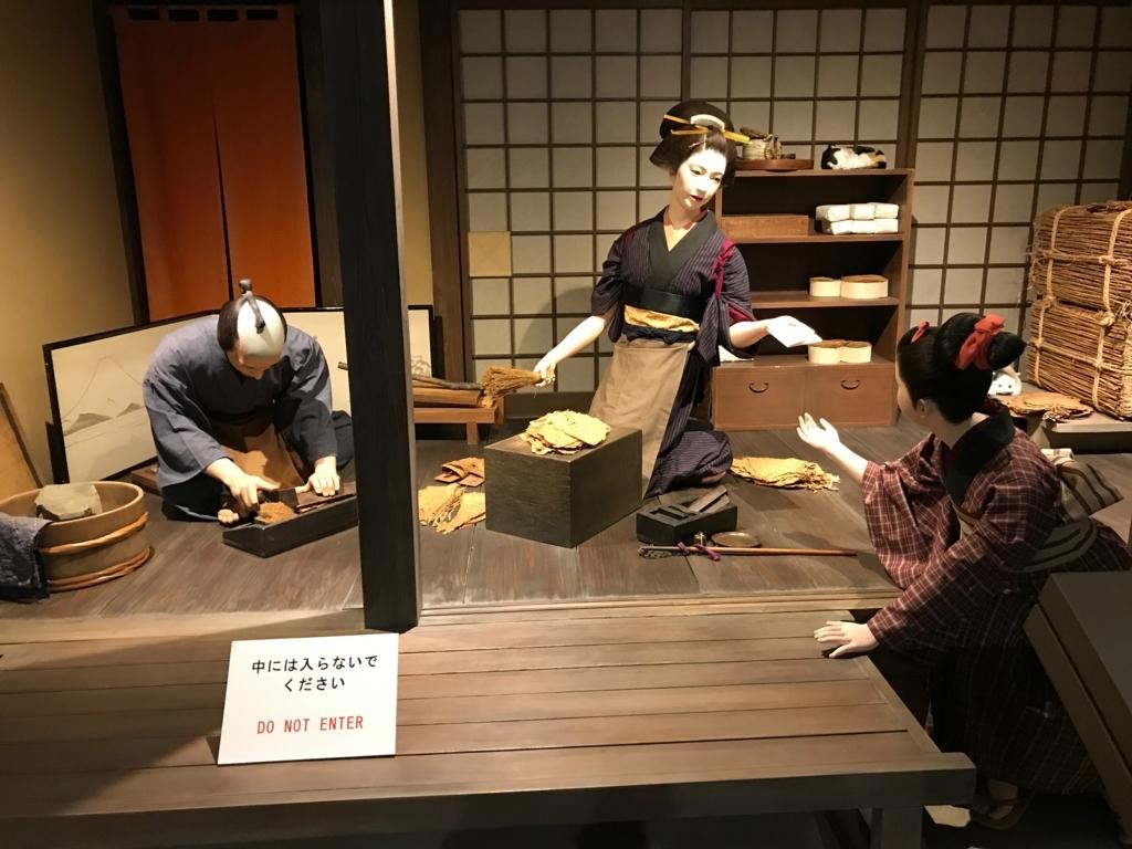 墨田区「たばこと塩の博物館」 3階タバコフロア 江戸時代のタバコ屋さん
