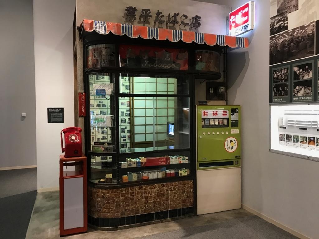 墨田区「たばこと塩の博物館」 3階タバコフロア 昭和のタバコ屋さ