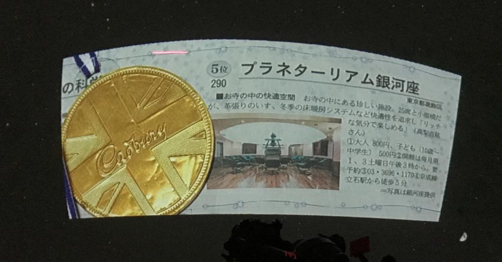 葛飾区 證願寺 「プラネターリウム銀河座」 2012年 日本経済新聞掲載のランキングで5位