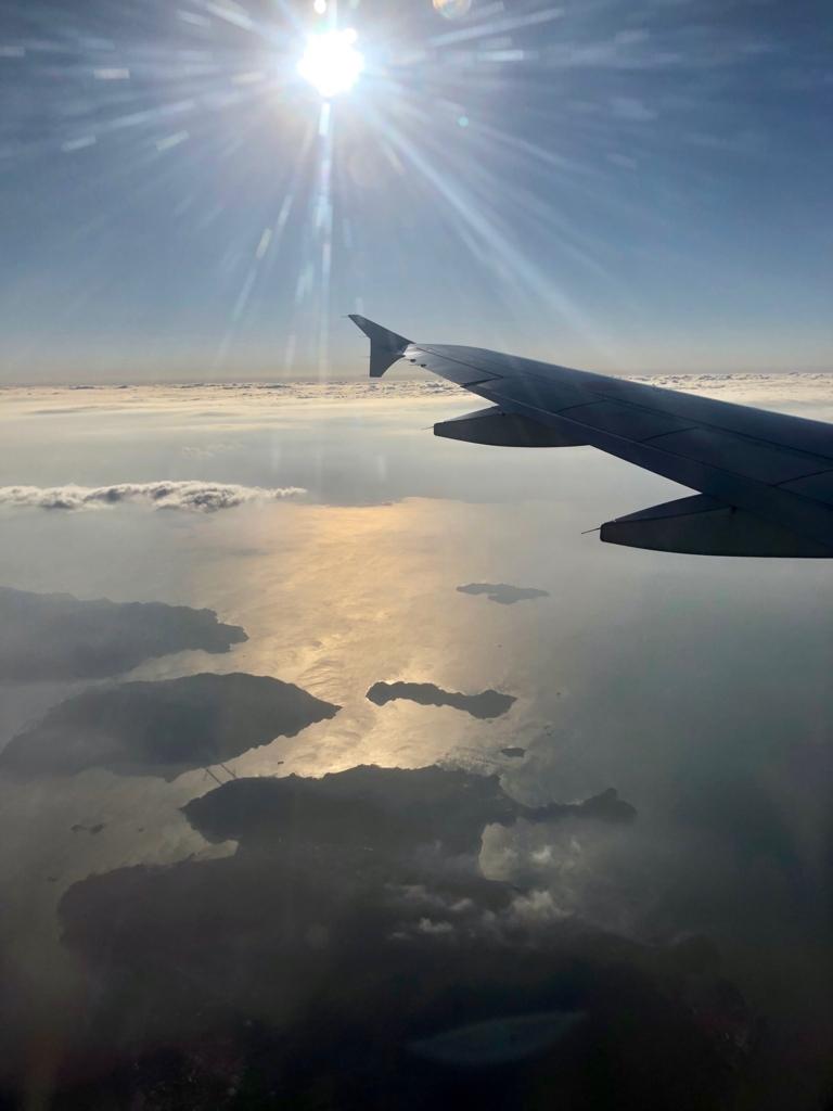 2017年11月 ANA631便 乗車中 岩国周辺では晴れて晴れて