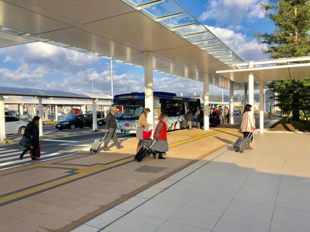 2017年11月休日 岩国空港外 岩国行きバス
