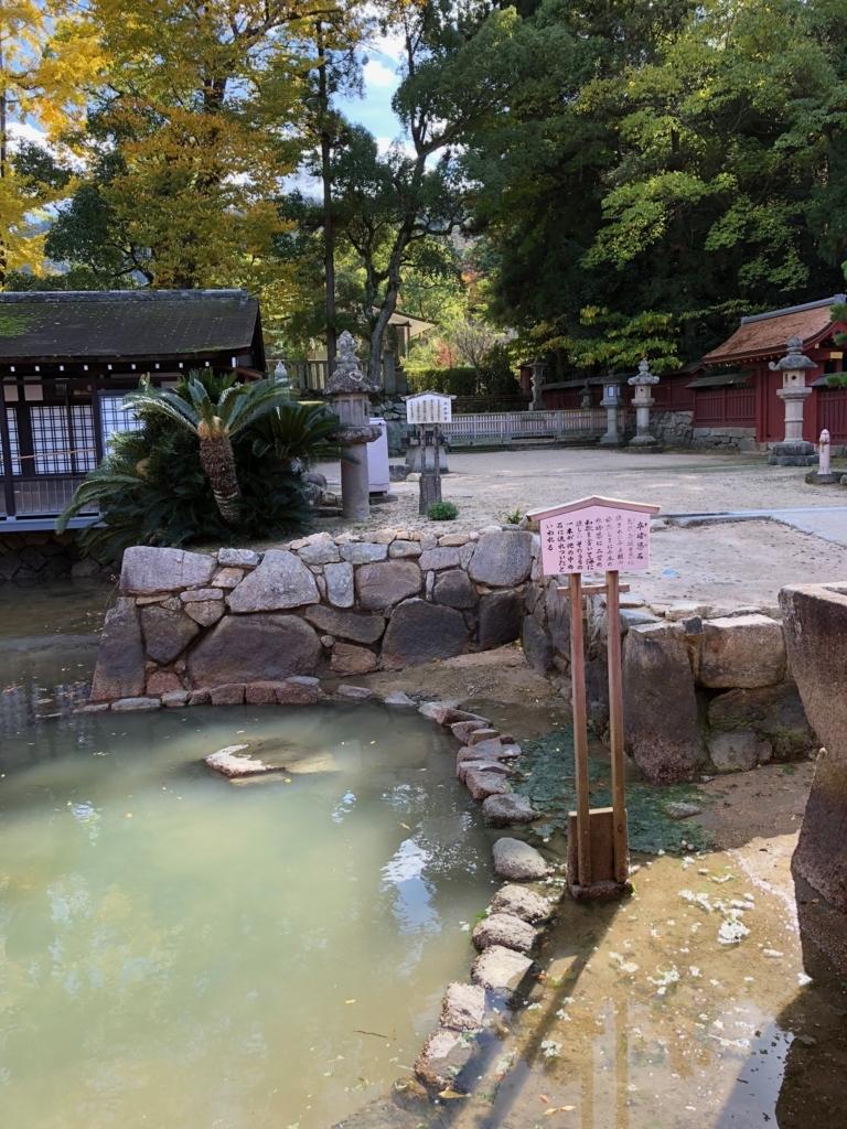 広島県 宮島 厳島神社 満潮1時間前の 卒堵婆石
