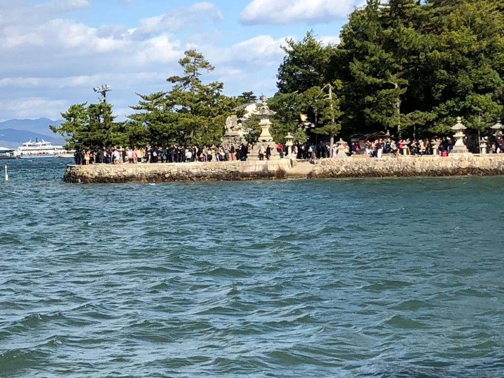 広島県 宮島 厳島神社 休日正午頃 東側参道