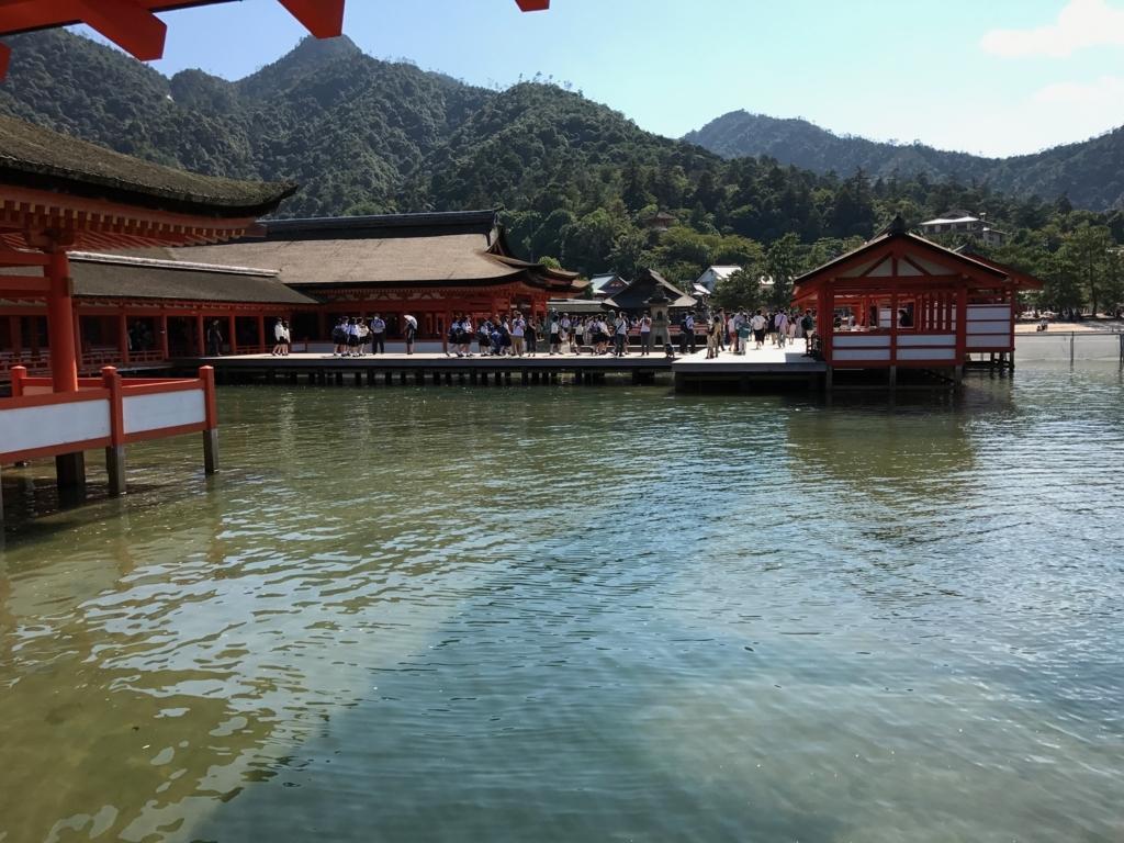 広島県 宮島 厳島神社 満潮時 無風の時 2016年9月