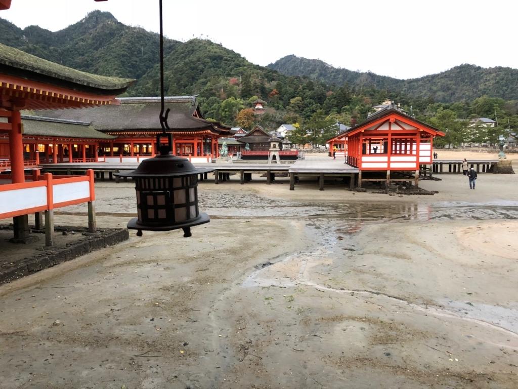 広島県宮島 厳島神社 干潮60cm 干潮後25分後 入り口付近