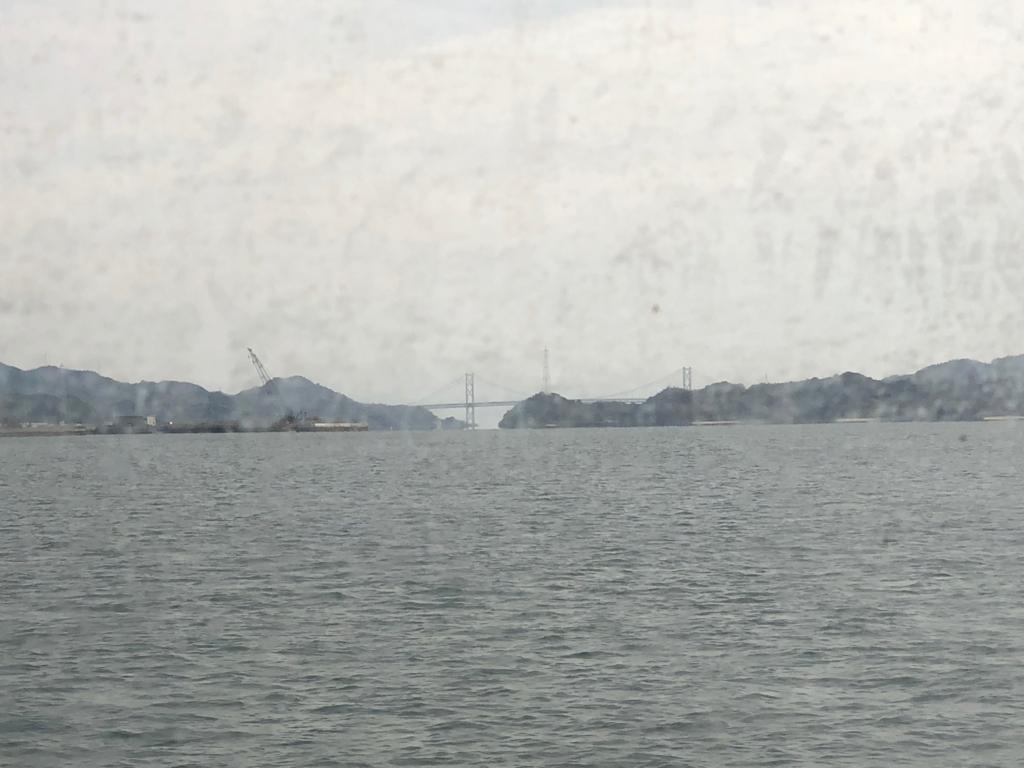 広島県 三原桟橋発 うさぎ島(大久野島)「ラビットライン」からの風景 しまなみ海道