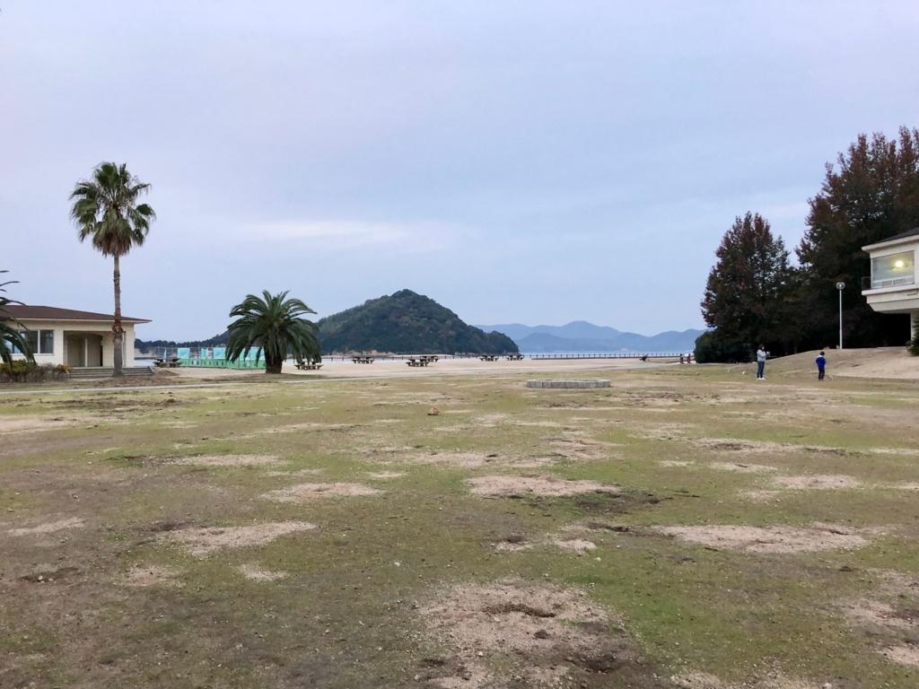 2017年11月後半 広島県 大久野島(うさぎ島) 休暇村 グラウンド
