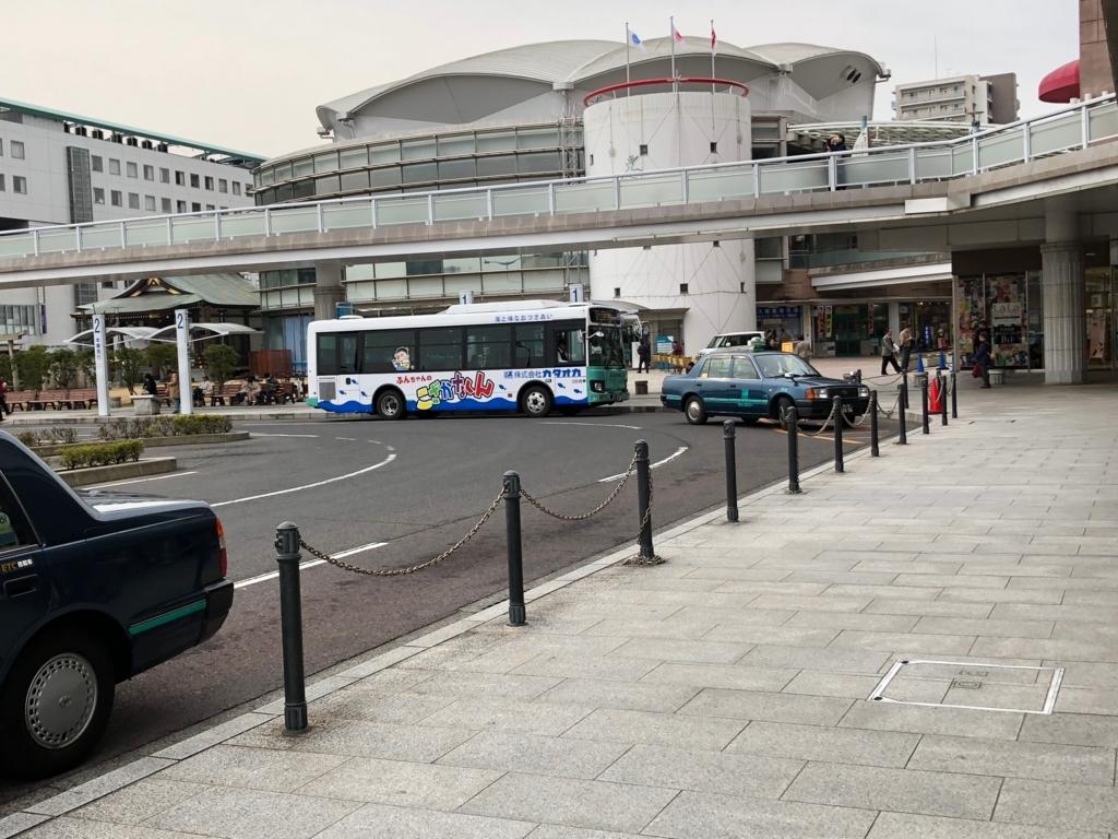 広島県 尾道駅 バスロータリー