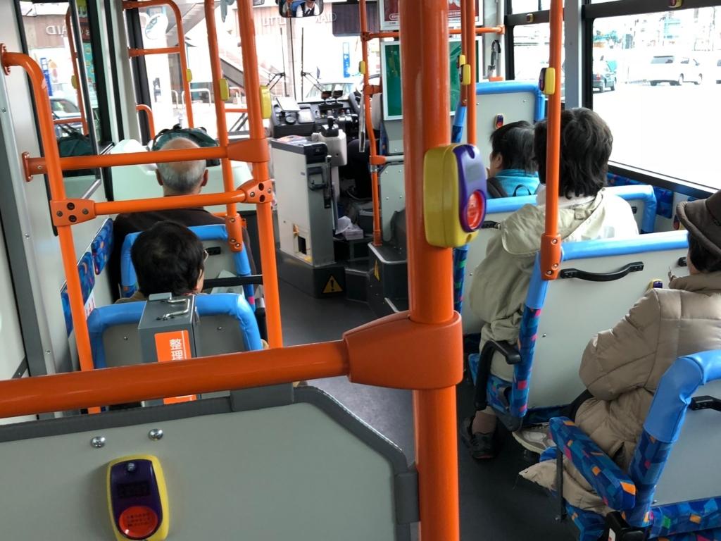 広島県 尾道駅 千光寺山ロープエウエイ方面バス内