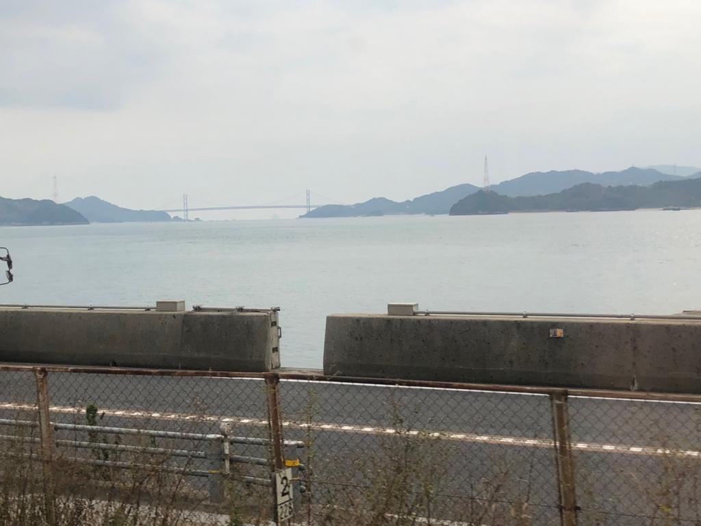 2017年11月尾道への車窓 しまなみ海道