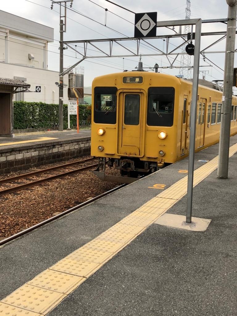 22017年11月忠海駅 呉線三原行き到着
