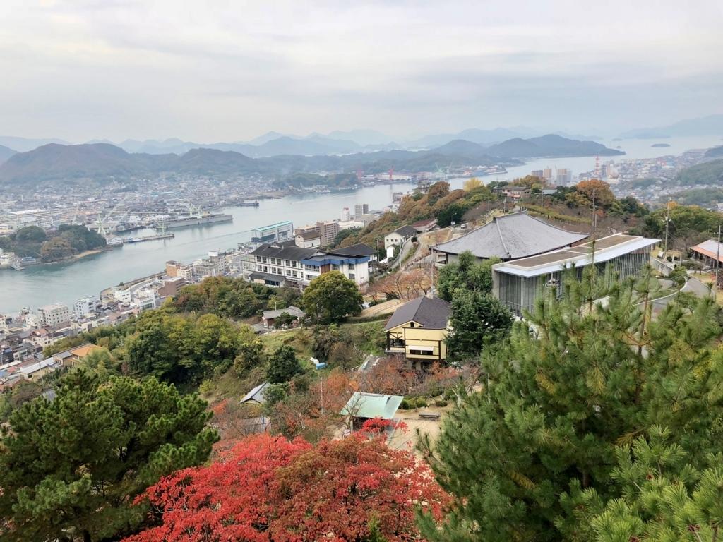 広島県 千光寺公園 展望台より 瀬戸内海の島々