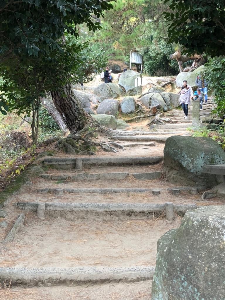 広島県 千光寺公園「文学のこみち」階段