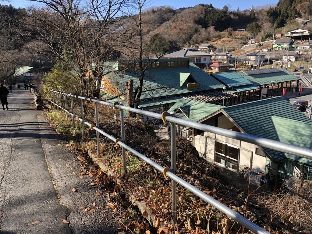 西武秩父線 芦ヶ久保駅 から 道の駅「果樹公園あしがくぼ」へ 下り坂
