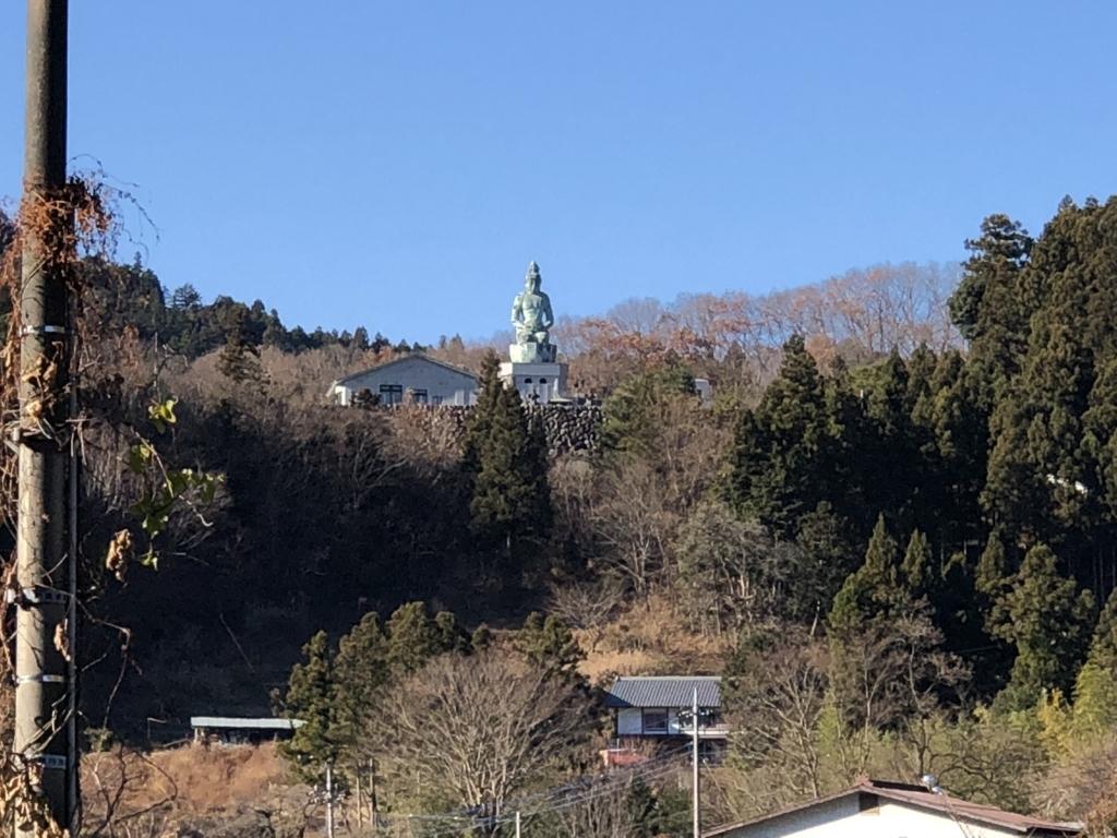 西武秩父線 芦ヶ久保駅 から見える 観音様