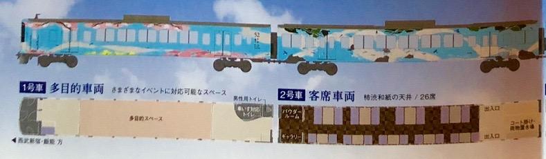 西武鉄道『西武 旅するレストラン「52席の至福」』車両説明1,2号車