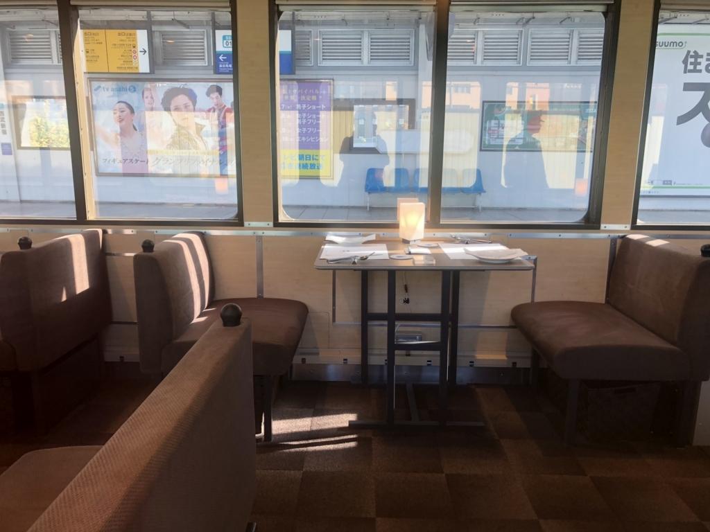 西武鉄道『西武 旅するレストラン「52席の至福」』客車 4両目 通常テーブル 窓