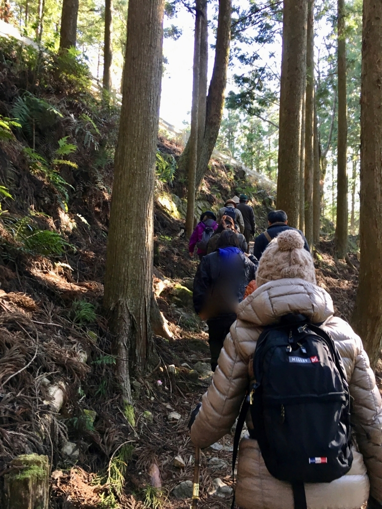 熊野古道 中辺路 「牛馬童子像」へ800mの道 ハイキングスタート 上り道