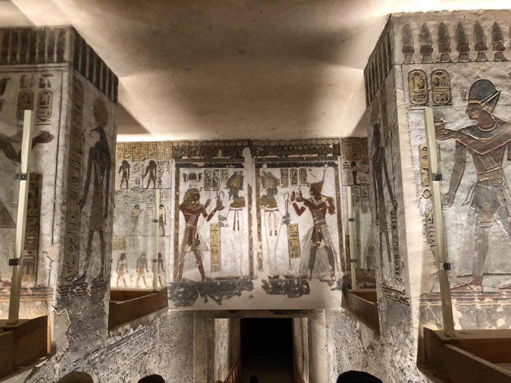 「王家の谷」ラムセス3世 墓 壁画
