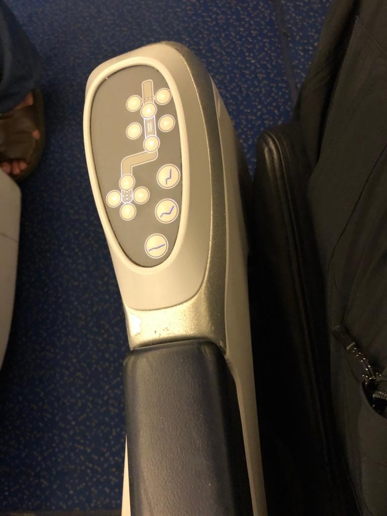 エジプト航空 MS965 成田空港か-カイロ空港 ビジネスクラス 座席コントロール
