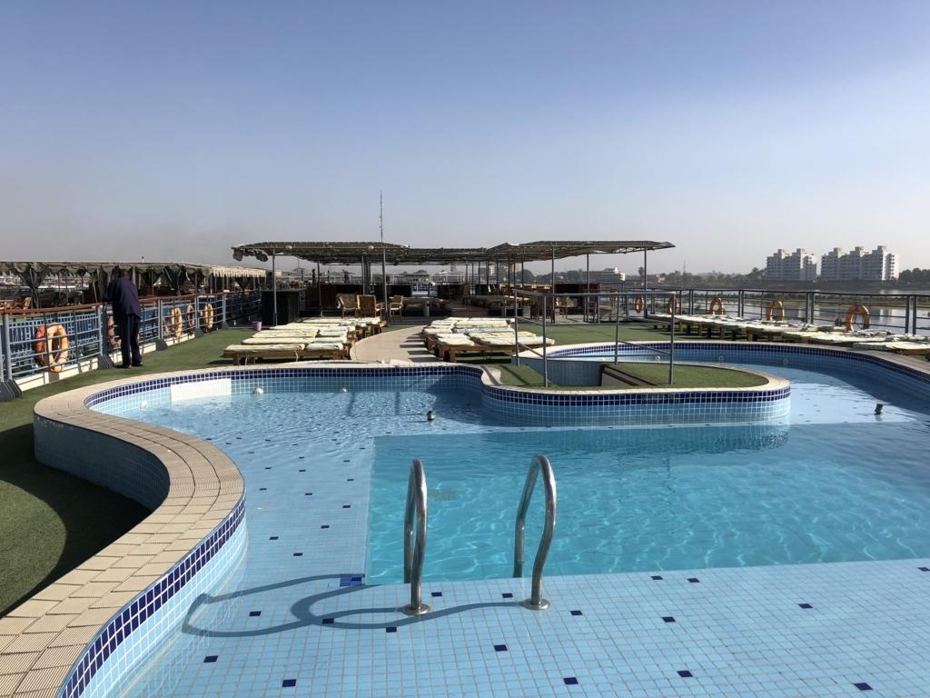 エジプト ナイル川クルーズ船 MS/PREMIUM 5階 展望デッキ