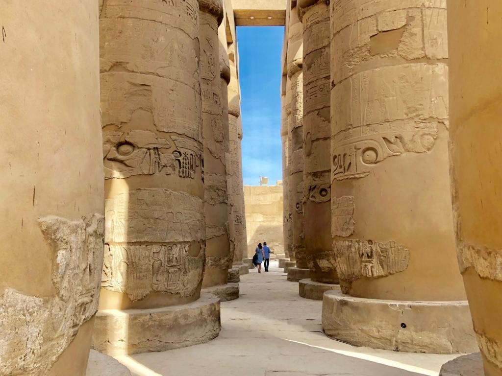 エジプト ルクソール カルナック神殿複合体 アメン神殿 大列柱室 絵になる風景